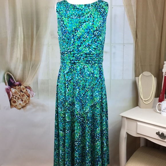 5bc92b7196c28 Jessica Howard Dresses   Skirts - Jessica Howard Blue Green Sleeveless Dress